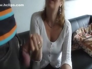Mature wife sucking his dick with passion