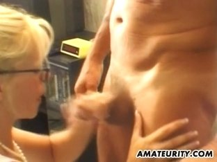 French aged pair non-professional porn clip