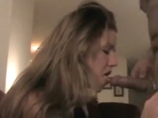 Non-Professional wife knows how to suck the ding-shlong in hawt real homemade porn episode scene