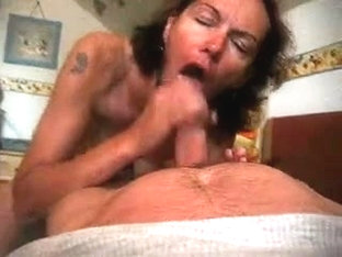 German wife sucking and swallowing sperm