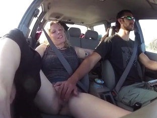 Cruising on the highway, while i play with my gf's pussy.