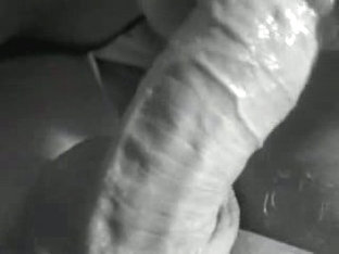 Close-Up Black And White Blowjob
