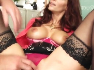 Syren De Mer teaching her young student how to lick pussy
