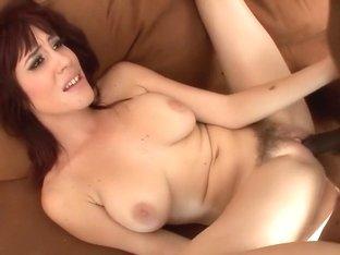 Amazing pornstar Sasha Sweet in best interracial, redhead sex video