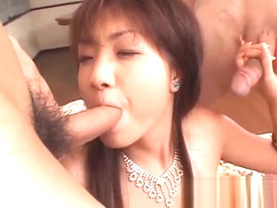 Perfect threesome for insolent Japan girl Itsuka