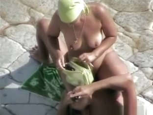 Nudist wife rides her man's cock