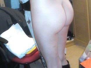 My wife walking around naked