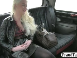 Biggest love melons dilettante blondie slut screwed at the backseat