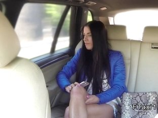 Hot Euro waitress bangs in fake taxi pov