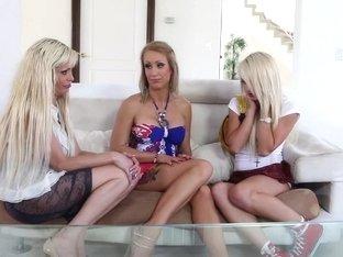 Crazy pornstars Mikki Lynn, Carmen Callaway and Zoey Portland in exotic piercing, masturbation por.