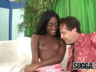 Ebony Cutiepie Monica Rae Devotes Her Mouth and Pussy to a White Dick