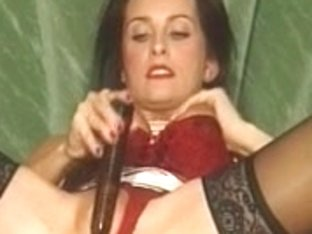 British mother I'd like to fuck plays with herself in nylons on the daybed