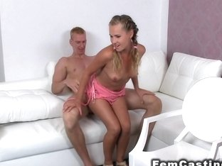 Tall muscled guy bangs hairy female agent