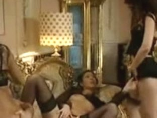 Three lusty Latinas in a hard group fuck