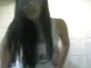 Guy leaves his jizz in Asian slut's beaver on the spy cam