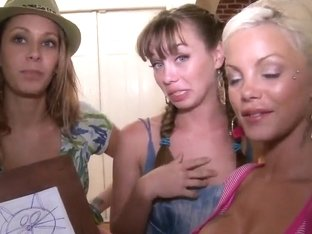 Capri Anderson and Nikki Brooks invited Delta White over for some lesbian fun