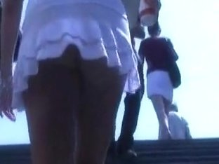 White skirt bitch is so fabulously looking in the vid
