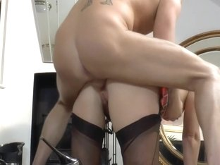 Stockings whore creamed