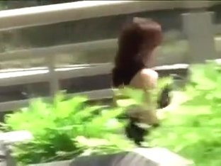 Japanese girl gets her pantie rip off on the street part 1