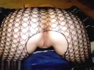 Mesmerizing fishnet reverse cowgirl and doggystyle creampie!