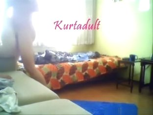 Turkish girl couple has doggystyle and missionary sex on the bed