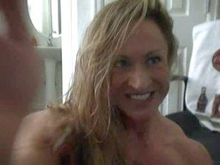 Big chick is naked on webcam