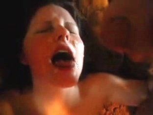 Jo Ann gets a facial from my rod
