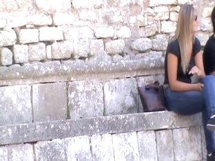 Big tits caught on voyeur camera