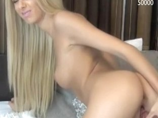 Captivating blonde girl shows off