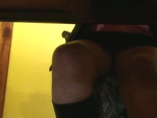 sexy mature upskirt under the desk again