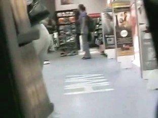 Non-nude voyeur video of sexy girls walking around a mall