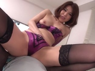 Crazy Japanese girl Erika Nishino in Amazing JAV uncensored Stockings movie