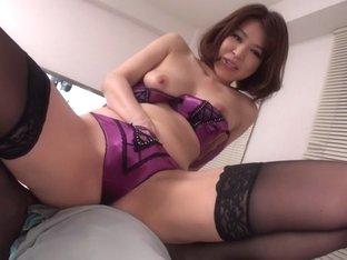 Crazy Japanese girl Erika Nishino in Amazing JAV uncensored Stockings movie