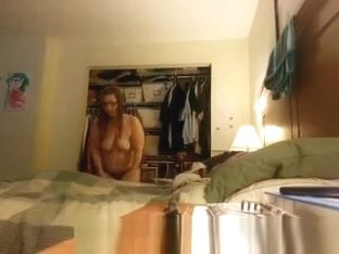 Chubby wife spied in bedroom
