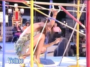 Celebrity upskirt shots with hot dancing Italian singer