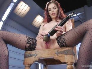 Best fetish porn video with hottest pornstar Bobbi Dylan from Fuckingmachines