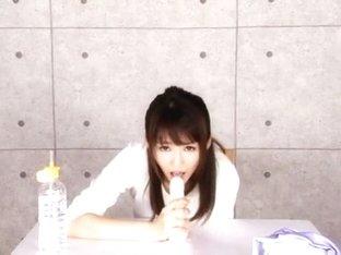 Fabulous Japanese model Nozomi Aso in Exotic Blowjob, Stockings JAV scene