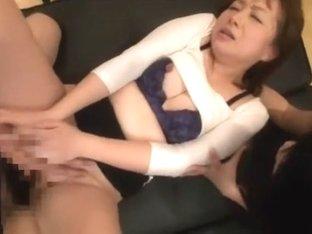 Crazy Japanese girl Saki Aoyama in Horny Threesomes, Bathroom JAV movie