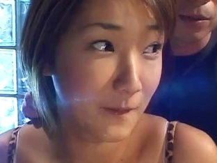 cute oriental swallows a load then acquires a cum glazing!!