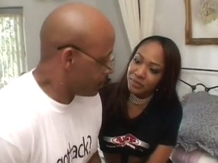 Sweet Ayana Angel Fucks Two Black Cocks