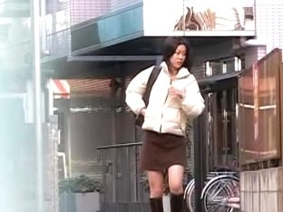 Public sharking surprise with amiable Japanese broad being caught of her guard