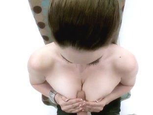 Johnny Sins tempts Tessa Lane with her big tits