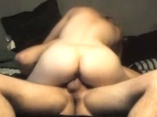 My girlfriend rides my boner to creampie