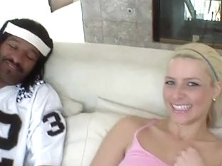 Stretching Anikka Albrite's tight cunt