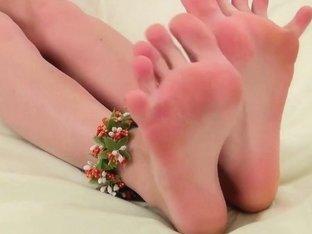 Cute Margarita shows off her feet