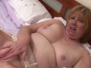 Old British aged pilot masturbating