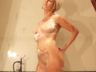 Hawt older mamma takes a bathroom and masturbates with vibrator