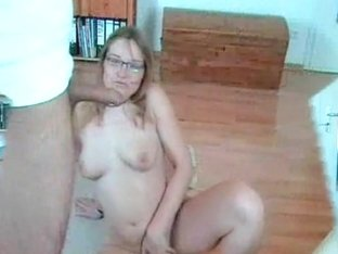 Horny mature blonde stripping and sucking