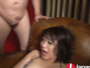Japanese Milf squirting for bukkake