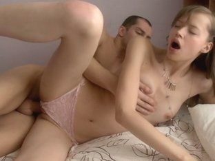 Hawt legal age teenager babe with constricted cum-hole screwed in her girlish bedroom